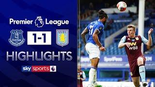 Late Theo Walcott goal denies Aston Villa a vital win! | Everton 1-1 Aston Villa | EPL Highlights