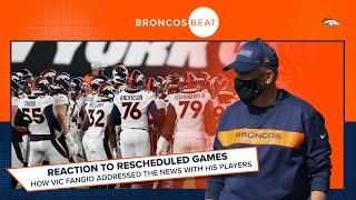 Schedule shuffle: How Vic Fangio addressed Patriots game postponement with team | Broncos Beat