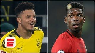 Man United 'keeping No. 7' open for Jadon Sancho ... but what happens with Paul Pogba? | ESPN FC