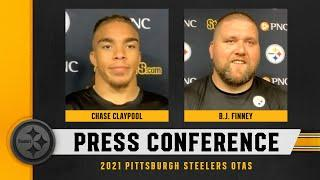 Steelers Press Conference (June 3): Chase Claypool, B.J. Finney   Pittsburgh Steelers