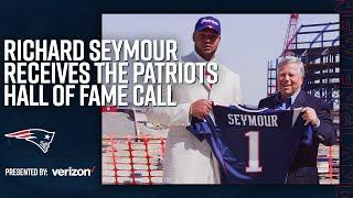 Richard Seymour Receives Patriots Hall of Fame Call From Robert Kraft