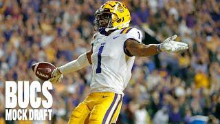 FULL BUCS MOCK DRAFT | NFC East Team Makes Surprise Trade & Top WR in the Draft