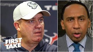 Stephen A. reacts to Bill O'Brien getting fired by the Texans | First Take