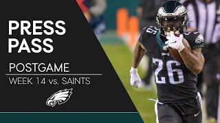 Eagles Players React to Win Over Saints | Eagles Press Pass