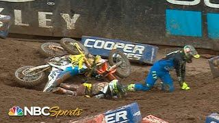 Top crashes from AMA Supercross Round 13 in Salt Lake City | Motorsports on NBC