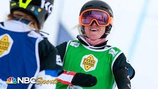 Faye Gulini takes second in Women's Big Final of Snowboard Cross World Cup | NBC Sports