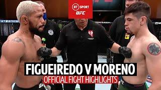 Fight of the Year contender! Deiveson Figueiredo v Brandon Moreno | UFC 256 Fight Highlights