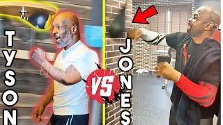 *OMG!* MIKE TYSON vs ROY JONES JR TRAINING SIDE BY SIDE (HEAVY BAG, SPARRING, STRENGTH CONDITIONING)