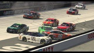 Early wrecks collects several drivers at Bristol   Coca-Cola iRacing Series