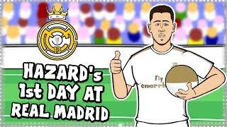 EDEN HAZARD's FIRST DAY AT REAL MADRID