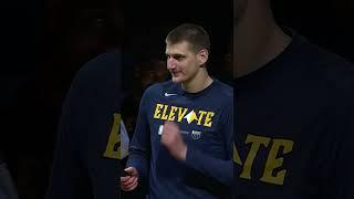 Nikola Jokic receives his MVP trophy  in front of Nuggets fans #Shorts
