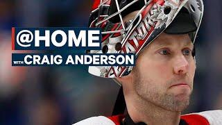 Craig Anderson Talks About Getting A Hair Cut From His Son And Auto Racing   @Home