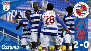 READING 2-0 NOTTM FOREST   Fans return, and Royals win!