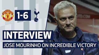 INTERVIEW | JOSE MOURINHO ON INCREDIBLE VICTORY AT OLD TRAFFORD | Man United 1-6 Spurs