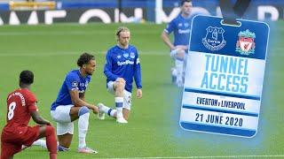 BEHIND CLOSED DOORS MERSEYSIDE DERBY AT GOODISON | TUNNEL ACCESS: EVERTON V LIVERPOOL