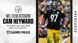 NFL Film Session: Cam Heyward's keys to rushing mobile QBs | Pittsburgh Steelers
