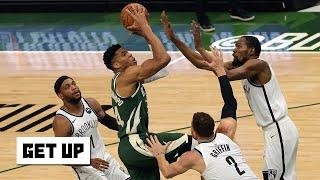 The Bucks got physical with the Nets! - Kendrick Perkins on Nets vs. Bucks Game 3   Get Up