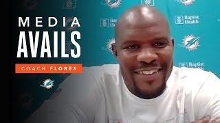 Coach Flores Discusses Week 2 of OTA's | Miami Dolphins Media Avails