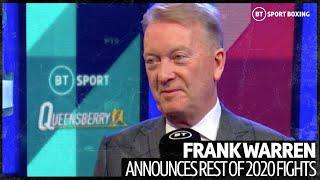 Frank Warren announces Yarde v Arthur, talks Fury v Wilder 3, Herring v Frampton, Dubois v Joyce