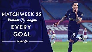 Every Premier League goal from Matchweek 22 (2020-2021) | NBC Sports