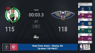 Celtics @ Pelicans | NBA on ABC Live Scoreboard