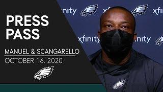 Marquand Manuel & Rich Scangarello On Developing Both Sides of the Ball and More | Eagles Press Pass