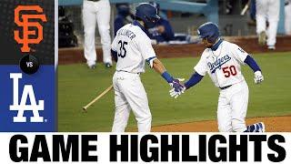 Dodgers club four homers in 7-2 win | Giants-Dodgers Game Highlights 8/7/20