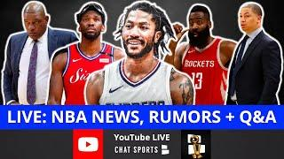 NBA Rumors: Victor Oladipo & Derrick Rose Trade Rumors, Rockets & 76ers Head Coach News + LIVE Q&A