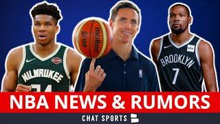 NBA News: Nets Hire Steve Nash To Coach Kevin Durant + Rumors On Giannis & Gregg Popovich Leaving