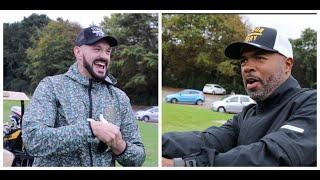 'F*** YOU TYSON' -TYSON FURY GETS TOLD BY HIS TRAINER SUGAR HILL AS PAIR BANTER & ARGUE PLAYING GOLF