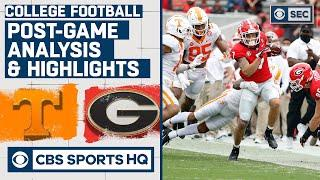 #14 Tennessee vs #3 Georgia Post Game Analysis & Highlights | CBS Sports HQ