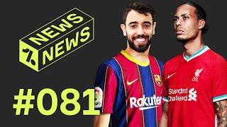 Fernandes to Barcelona or Real Madrid!? + Van Dijk could MISS SEASON!  Daily News