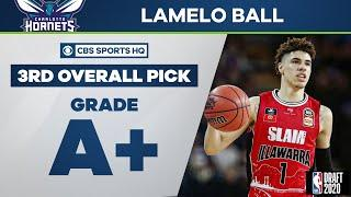 Hornets selct LaMelo Ball with the 3rd overall pick | 2020 NBA Draft | CBS Sports HQ