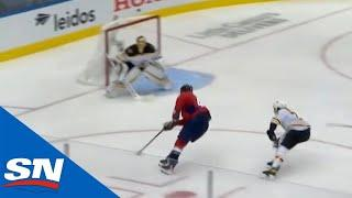 Tom Wilson Skates In Alone & Flips Puck Upstairs Past Tuukka Rask