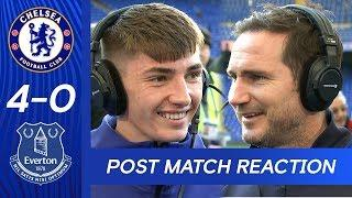 Billy Gilmour & Frank Lampard React To Dominant Win   Chelsea 4-0 Everton   Premier League