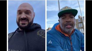 'LET THE GAMES BEGIN SUG!' - TYSON FURY & SUGAR HILL FINALLY LINK-UP IN MORECAMBE BAY W/ ISAAC LOWE