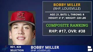 Los Angeles Dodgers Select Louisville Pitcher Bobby MIller With Pick #29 In 2020 MLB Draft