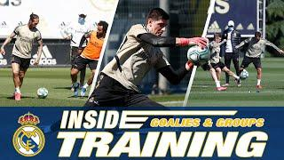 How to train like a Real Madrid goalkeeper, plus group work led by Zinedine Zidane!