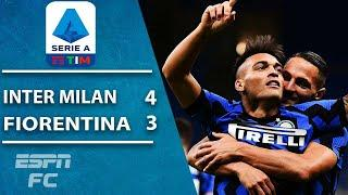WHAT A COMEBACK! Inter Milan wins 4-3 thriller vs. Fiorentina | ESPN FC Serie A Highlights