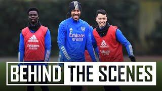 Shooting drills & some top saves   Behind the scenes at Arsenal training centre