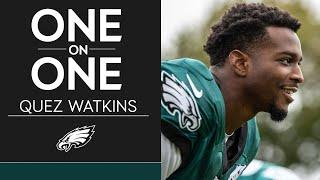 Quez Watkins Talks His Speed, His Relationship w/ John Hightower & More | Eagles One-On-One