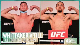 Open Mat LIVE: Robert Whittaker v Darren Till official weigh-in show