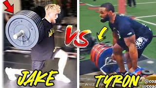 JAKE PAUL vs  TYRON WOODLEY STRENGTH and CONDITIONING TRAINING SIDE BY SIDE (PADS, SPARRING)