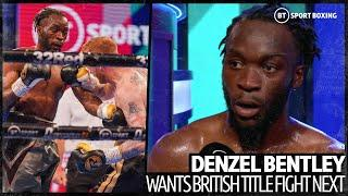 Denzel Bentley forces referee to stop fight and then calls out Mark Heffron for British title fight