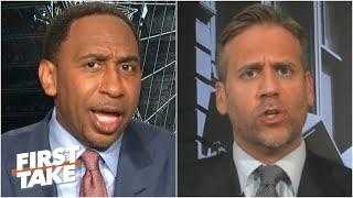 Stephen A. & Max get heated arguing about Kawhi's Game 7 struggles | First Take