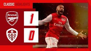 Thierry Henry scores on his return!   Arsenal 1-0 Leeds   Arsenal Classic Highlights   Jan 9, 2012
