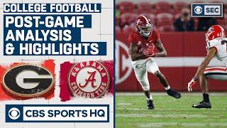 #3 Georgia vs #2 Alabama Analysis & Highlights: Tide shut out Dogs in 2nd half   CBS Sports HQ