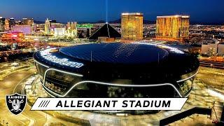 Allegiant Stadium Redefines Las Vegas Skyline With Night-Time Flyover | Las Vegas Raiders