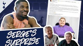 SERGE'S SURPRISE! Serge Aurier gifts a special present to a young autograph hunter!