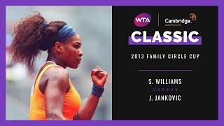 Serena Williams v. Jelena Jankovic | Full Match | 2013 Family Circle Cup